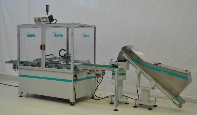 Macchina automatica in linea per carico e riempimento fondelli